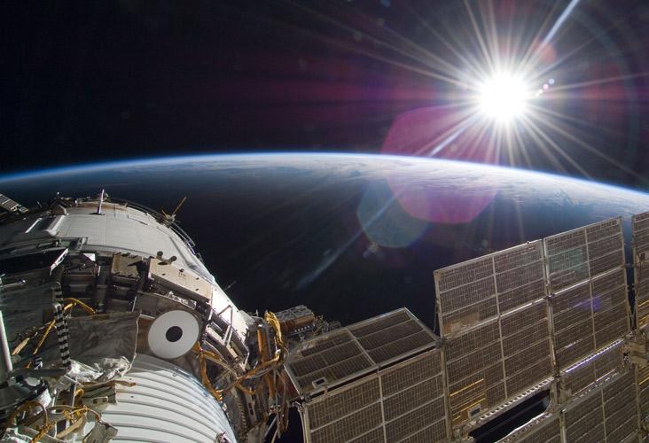 NASA-ISS-Sunrise-Shot